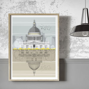 St. Paul's Cathedral Architectural Illustration Print