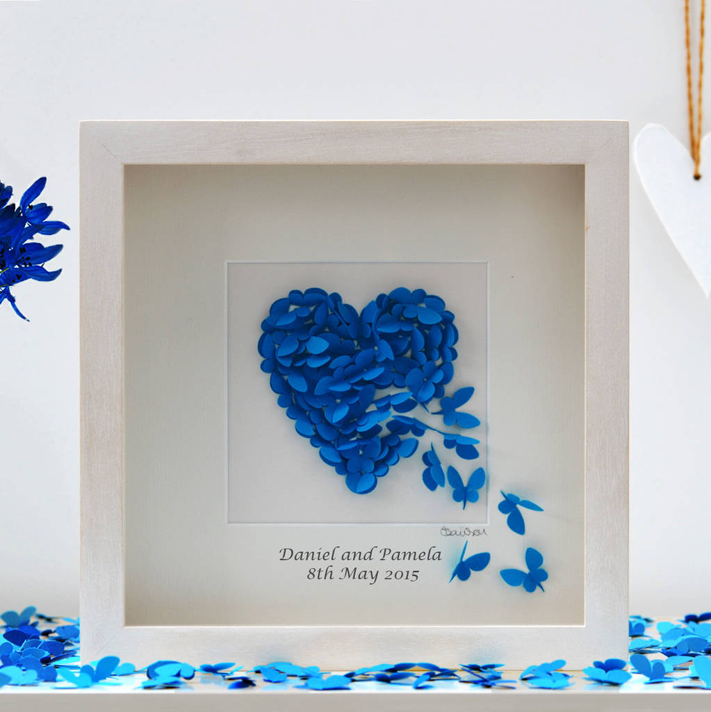 Personalised Wedding Anniversary Butterfly Picture