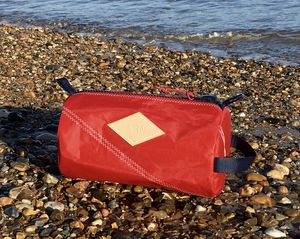 Personalised Embossed Sailcloth Wash Bag