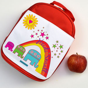 Personalised Lunch Bag Elephants