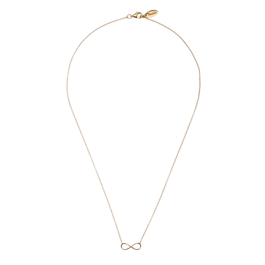 infinity necklace white gold. gold plated infinity necklace white