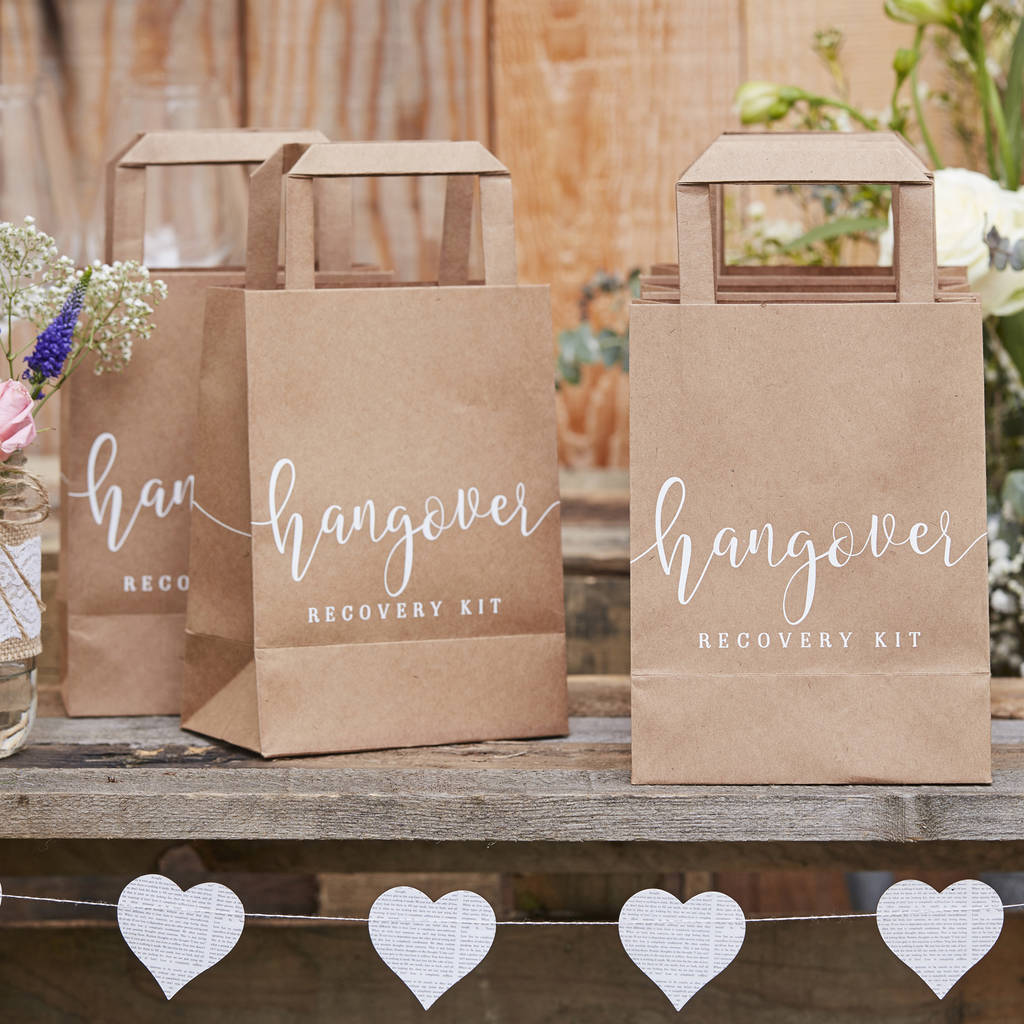Hangover Kit Paper Bags Alternative Wedding Favours