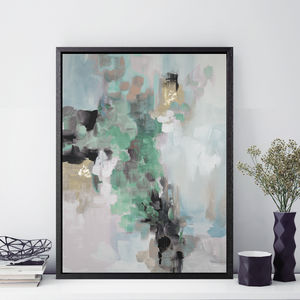 'Rosa Ellie' Framed Giclée Abstract Canvas Print Art - canvas prints & art