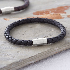 Men's Plaited Leather Bracelet