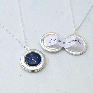 Personalised Zodiac Constellation Locket Necklace