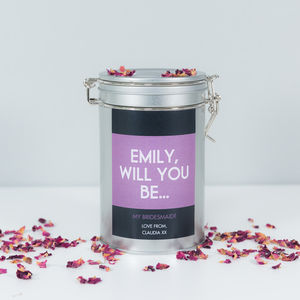 Be My Bridesmaid? Coffee Gift Tin