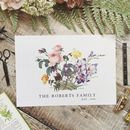 Birth Flower Family Print