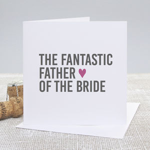'Father Of The Bride' Bold Wedding Thank You Card - wedding stationery
