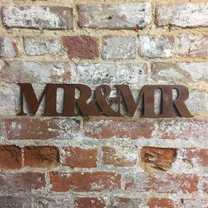 Metal Mr And Mr Sign