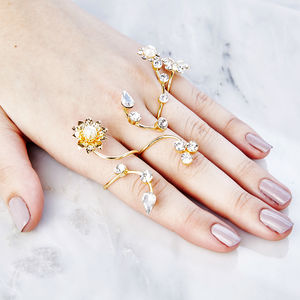 Floral Climber Ring Set - women's jewellery