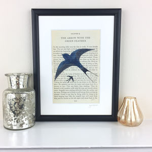 Swallows And Amazons Book Page Original Painting - canvas prints & art