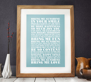 Personalised Favourite Lyrics Poster - gifts for him