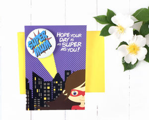 Mother's Day Superhero Card