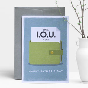 Father's Day Iou Greeting Card