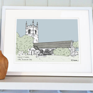 Wedding Or Christening Venue Illustration - posters & prints