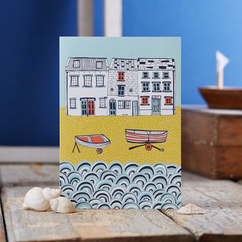 Life By The Sea Blank Greetings Card