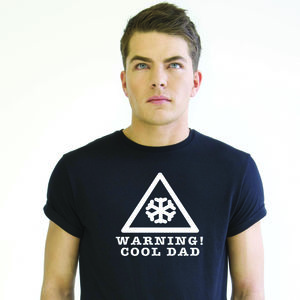Dad T Shirt 'Warning! Cool Dad'