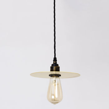 Small Brass Disk Pendant Lamp