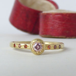 Caillou Pink Diamond Ethical Ring