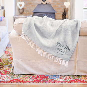 Personalised Couple's Wool Blanket
