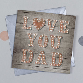 Carnival Love You Dad Birthday Card