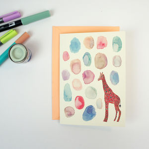 Greeting Card Painted Giraffe