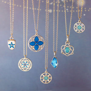 Gold And Turquoise Charm Collection - necklaces & pendants