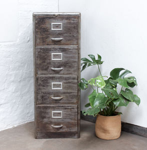 Maurizio Bespoke Distressed Vintage Filing Cabinet - cabinets