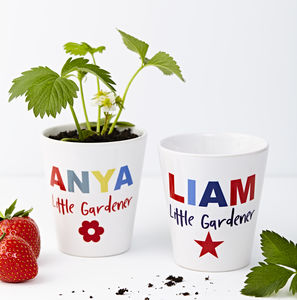 Child's Personalised Plant Pot - stocking fillers