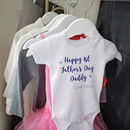 Personalised 1st Father's Day Babygrow