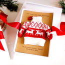 Scandi Red Christmas Jumper Tree Decoration Card