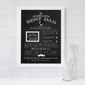 The Worlds Best Dad Personalised Print
