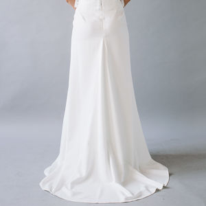 Lola Crepe Fitted Maxi Skirt - wedding dresses