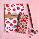 Lip iPhone Case And Notebook
