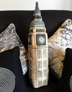 London Big Ben 3D Plush Cushion - children's room