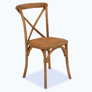Sandhurst Stackable Oak Dining Chair With Rattan Seat