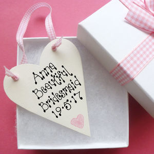 Bridesmaid Personalised Love Token - bridesmaid gifts