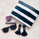 Monochrome Painted Stripe Hero Bag