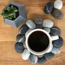 Hand Felted Pebble Effect Trivet, Plant Base Or Coaster