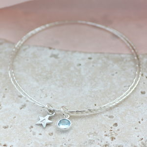Child's Personalised Star Bangle - wedding jewellery