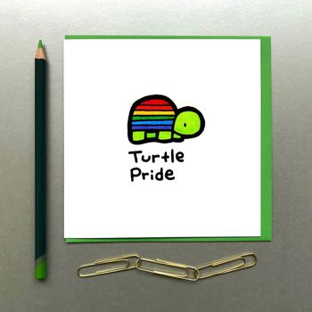 Pride Turtle Card