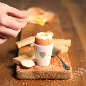 Marble Heart Egg Cup - new in home
