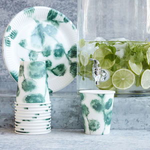 Watercolour Botanical Picnic Party Tableware
