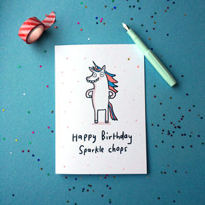 'Happy Birthday Sparkle Chops' Card