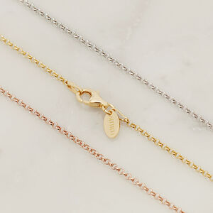 Belcher Chain Necklace In Silver, Gold Or Rose