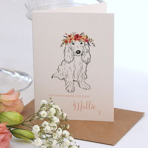 Wedding Day Card From Your Spaniel - wedding cards