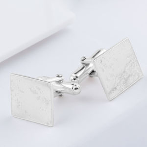 Sterling Silver Square Memorial Cufflinks - women's accessories