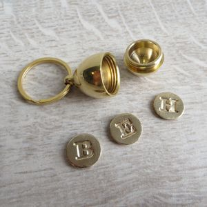 Brass Secret Locket Key Ring - lockets