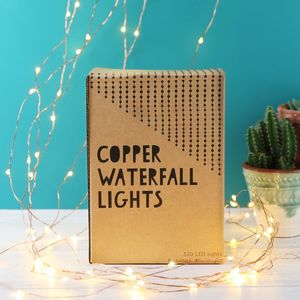 Copper Wire Waterfall String Lights 320 LED - top 100 decorations