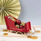 Personalised Mini Wooden Alpine Sleigh Decoration - christmas decorations